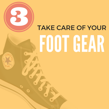 remedy stinky feet - take care of your foot gear